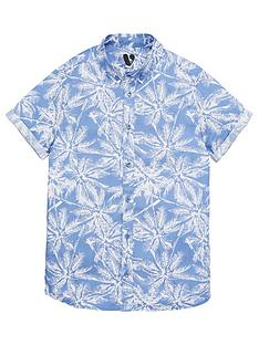 v-by-very-boys-palm-print-short-sleeve-shirt-blue