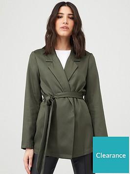 v-by-very-tie-waist-soft-tailored-jacket-khaki