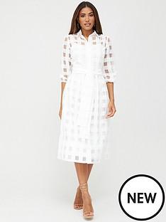 v-by-very-check-midi-dress-white