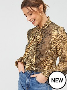 v-by-very-pussybow-printed-blouse-animal-print