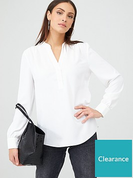 v-by-very-long-sleeve-notch-neck-blouse-ivory