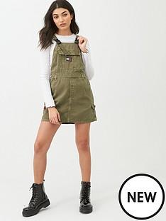 tommy-jeans-dungaree-dress-khaki