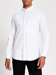 river-island-maison-riviera-slim-fit-oxford-shirt-white