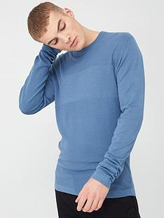 river-island-long-sleeve-slim-fit-knitted-top-light-blue