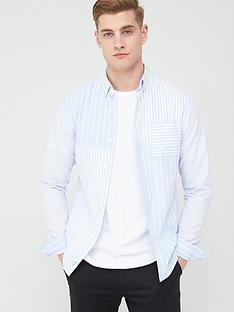 river-island-blue-block-striped-slim-fit-shirt