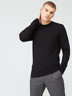 river-island-long-sleeve-slim-fit-knitted-top-blacknbsp