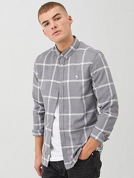river-island-long-sleevenbspcheck-shirt-greynbsp