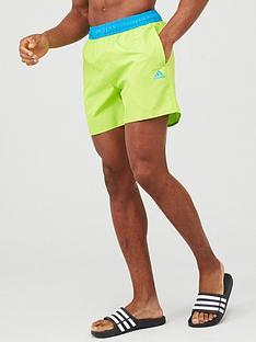 adidas-solid-clx-swim-shorts-green