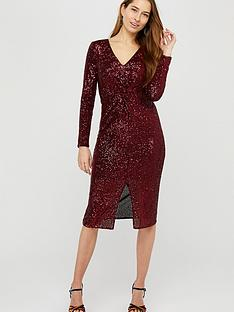 monsoon-rosie-sequin-midi-dress-berry