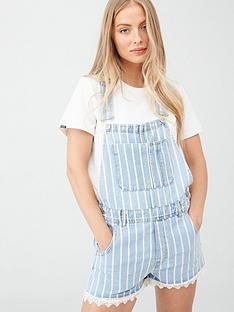 superdry-dungaree-lace-boyshort-blue