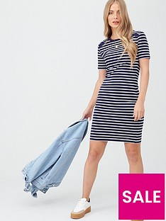 superdry-eden-lace-mix-dress-navy-stripe