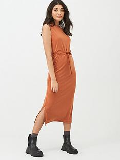 superdry-desert-drawstring-midi-dress-olive