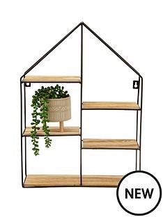 sass-belle-large-black-house-shelf