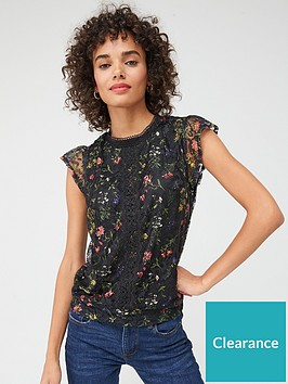 oasis-kara-lace-printed-shell-top-multiblack