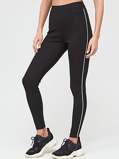 v-by-very-diamante-trim-co-ord-legging-black