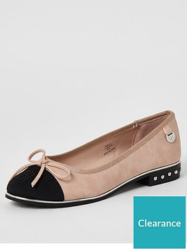 river-island-bow-front-ballet-shoes-pink