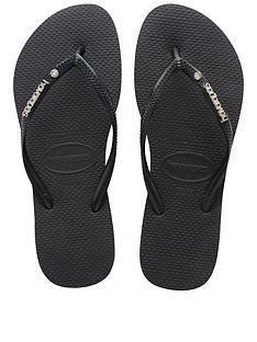 havaianas-slim-metal-logo-amp-crystal-flip-flop-sandals-black