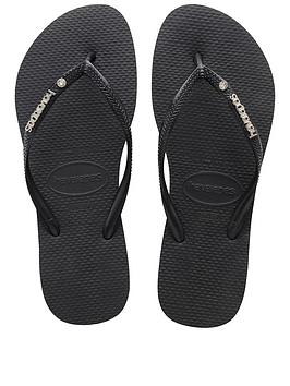 havaianas-slim-metal-logo-amp-crystal-flip-flop-sandals-black
