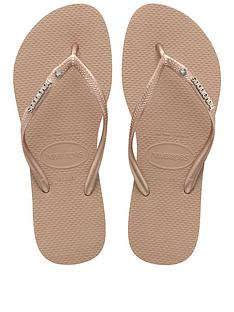 havaianas-slim-metal-logo-amp-crystal-flip-flop-sandals-rose-gold