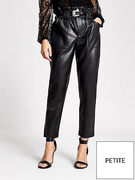 ri-petite-pu-western-belt-peg-trouser--black