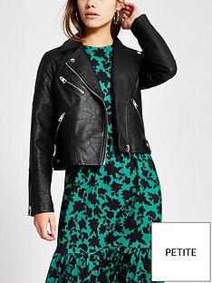 ri-petite-pu-quilted-biker-jacket-black