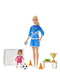 barbie-football-coach-playset