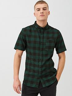 river-island-dark-green-check-regular-fit-shirt