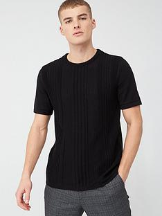 river-island-slim-fit-pointelle-knit-t-shirt-blacknbsp