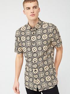 river-island-black-geo-printed-slim-fit-shirt