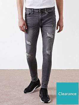 river-island-blue-ollie-spray-on-distressed-skinny-jeans
