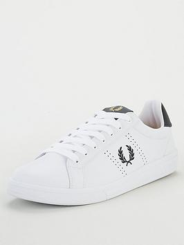 fred-perry-b721-leather-trainers-white