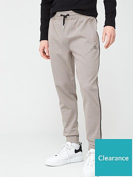 river-island-maison-riviera-check-slim-fit-joggers-brownnbsp
