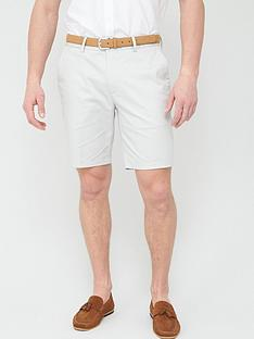 river-island-axis-belted-slim-fit-shorts