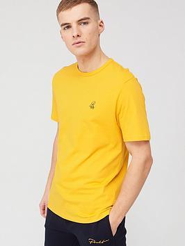river-island-r96-short-sleeve-slim-fit-t-shirt-ambernbsp