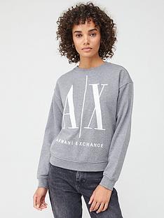 armani-exchange-logo-sweat-top-grey