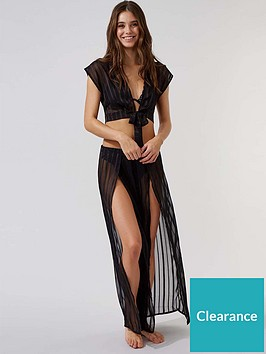 boux-avenue-satin-stripe-wide-leg-split-front-trousers-black