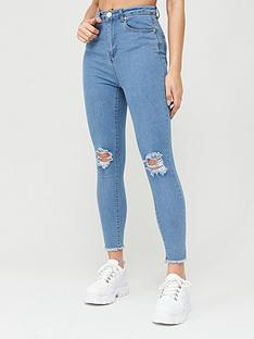 boohoo-boohoo-frayed-hem-distressed-skinny-jeans-light-blue