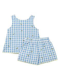 joules-toddler-girls-carmel-check-co-ord-set-blue