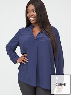 v-by-very-curve-tunic-blouse-navy