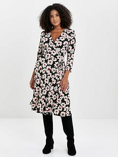 evans-daisy-wrap-dress-print