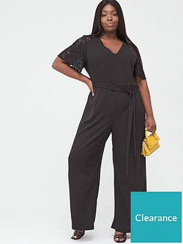 v-by-very-curve-lace-insert-wide-leg-jumpsuit-black