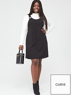 v-by-very-curve-jersey-crepe-pinafore-dress-black