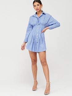 boohoo-boohoo-striped-shirt-dress-blue