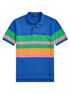 ralph-lauren-boys-short-sleeve-colour-block-polo-shirt-blue