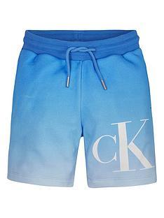 calvin-klein-jeans-boys-monogram-jog-shorts-blue