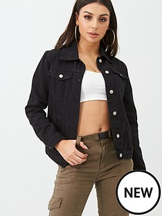 boohoo-boohoo-denim-jacket-black