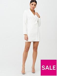 boohoo-boohoo-pearl-embellished-blazer-dress-white