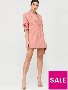 boohoo-boohoo-oversized-blazer-dress-peach