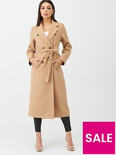 boohoo-boohoo-longline-double-breasted-belted-wool-look-coat-camel