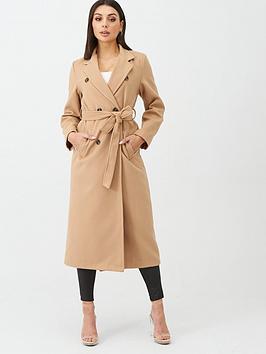 boohoo-boohoo-longline-double-breasted-belted-wool-look-coat-camel
